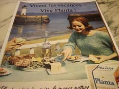 ANCIENNE PUBLICITE  MARGARINE PLANTA  1960 - Affiches