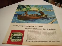 ANCIENNE PUBLICITE  MARGARINE ASTRA RICHESSE DES TROPIQUES 1958 - Posters