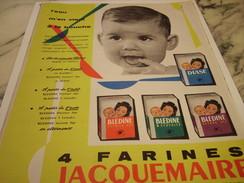 ANCIENNE AFFICHE  PUBLICITE 4 FARINES DE JACQUEMAIRE 1959 - Posters