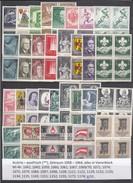 Austria 1958-1964 - Lot Mit 30 Verschiedene Ausgaben In Viererblock, MNH**(scan) - Collezioni