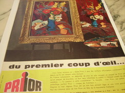 ANCIENNE PUBLICITE PREMIER COUP D OEIL PRIOR 1960 - Affiches