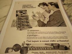 ANCIENNE PUBLICITE BARRE CHOCOREVE 1960 - Posters