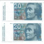 2 Billets De 20 Fr Suisse - Suisse