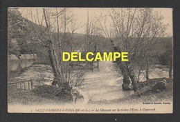 DF / 49 MAINE ET LOIRE / SAINT-FLORENT-LE-VIEIL / LA CHAUSSÉE SUR LA RIVIÈRE L' EVRE, À COURROUCÉ / ANIMÉE / 1922 - Altri Comuni