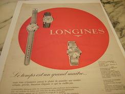 ANCIENNE PUBLICITE MONTRE LONGINES - Bijoux & Horlogerie