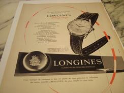 ANCIENNE AFFICHE PUBLICITE MONTRE LONGINES FLAGSHIP 1958 - Bijoux & Horlogerie