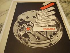 ANCIENNE AFFICHE PUBLICITE DES MEILLEUR MONTRES INCABLOC 1958 - Autres
