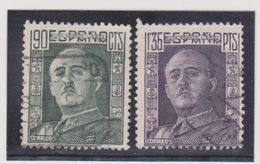 ESPAGNE   1949-54  Y.T. N° 793a  794A  Oblitéré - 1931-Today: 2nd Rep - ... Juan Carlos I