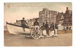 Blankenberge - Les Sauveteurs Sur La Plage / Redders - Geanimeerd - Uitgave Globe American Photo-color - Blankenberge