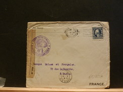 65/325A   LETTER TO PARIS 1915 FR. CENSOR - Etats-Unis