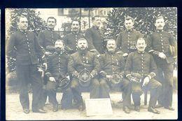 Cpa Carte Photo Du 03 -- Vichy 14 Juillet 1909 Groupe D' Officiers Militaires --  Sep17-04 - Vichy