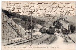 Isère - Ligne De La Mûre - LA MOTTE-les-BAINS - Trains En Gare - 1908 - France