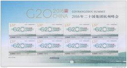 CHINA VR 2016-25 ** G20 Hangzhou Summit M/S - OFFICIAL ISSUE - DHCHN - 1949 - ... Volksrepublik