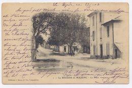 LA BEGUDE DE MAZENC - La Place -1903- Dos Simple - Bon état - France