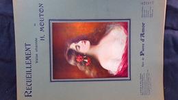 PARTITION MUSICALE- RECUEILLEMENT VALSE H. MOUTON-VERS PIERRE D' AMOR-A.DURAND PARIS 1909 - Scores & Partitions