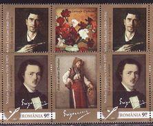 Romania, 2013, Painting 2 Stamps X 2 With Labels - 1948-.... Républiques