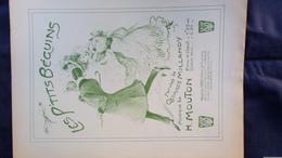 PARTITION MUSICALE- LES PETITS BEGUINS- GEORGES MILLANDY-H. MOUTON-MAURICE VIEU PARIS 1907 - Scores & Partitions