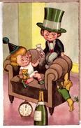 Dachshund Puppy Puppies Dog Dogs Champagne. Happy New Year! ~ 1930 - Honden
