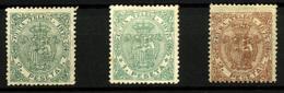 Cuba (Telégrafos) Nº 23,25 Y 30. Año 1872-1874 - Cuba (1874-1898)
