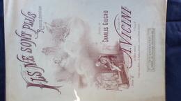 PARTITION MUSICALE- ILS NE SONT PLUS- ROMANCE-CHARLES GIUGNO- A. VICINI- D.V. DEVENTER-PARIS -ILLUSTRATEUR A.MARMINIA - Scores & Partitions