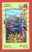 ITALIA REPUBBLICA USATO - 2013 - Folclore Italiano - Carnevale Termitano - € 0,70 - S. 3377 - 1946-.. Republiek