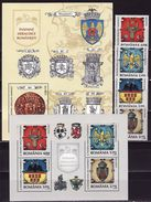 Romania 2008, Emblems, Coat Of Arms 4 Stamps  + 2s\s Blocks - 1948-.... Républiques
