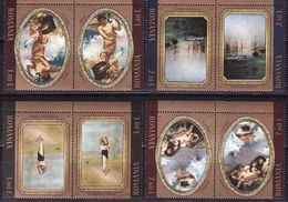 Romania, 2011, Painting, 8 Stamps, 4 Pairs - 1948-.... Républiques