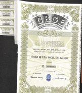 Lot 22 Titres - CRGE Companhias Reunidas Gas E Electricidade, Lisboa 1952 (21x 175Esc - 1x 1750Esc) - Elektrizität & Gas