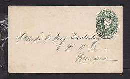 Natal, QV, 1/2d Stationery Envelope, Used, DUNDEE NATAL AU 1 1901 > Dundee - Zuid-Afrika (...-1961)