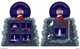 SIERRA LEONE 2017 - Lighthouses. M/S + S/S Official Issue. - Sierra Leone (1961-...)