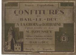 Sur Plaque Bois , étiquette , Confitures De BAR LE DUC , à La Croix De Lorraine  , 22 X 29.5 , Frais Fr : 4.25 E - Etiquettes