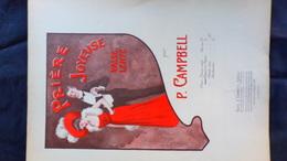 PARTITION MUSICALE- PRIERE JOYEUSE-VALSE PAR P.CAMPBELL-DEMETS PARIS 1908-IMPRIMERIE RODER - Scores & Partitions