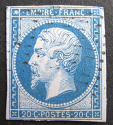 LOT R1624/157 - NAPOLEON III N°14B - POINTILLES FINS - Cote : 20,00 € - 1853-1860 Napoléon III.