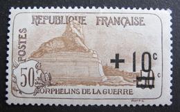 LOT R1624/162 - 1922 - AU PROFIT DES ORPHELINS DE LA GUERRE - N°167 - NEUF* - Cote : 27,00 € - France