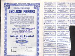 Lot 5 Titres - Etablissements Lecluse Frères, Tiegem-lez-Anzegem - Actions & Titres