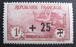 LOT R1624/163 - 1922 - AU PROFIT DES ORPHELINS DE LA GUERRE - N°168 - NEUF* - Cote : 36,00 € - France