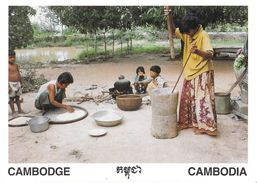 Asie > Cambodge CAMBODIA  A Girl Is Doing Rice (riz Enfant Enfants ) *PRIX FIXE - Cambodge