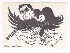 Caricature De Tito Avec Carte De La Yougoslavie. (1858) - Satiriques