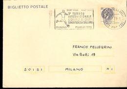 BIGLIETTO POSTALE VIAGGIATO CON ANNULLO SPECIALE 3° TORNEO INTERNAZIONALE GIOVANILE SANTA TERESA DI GALLURA 1979 - Calcio
