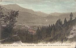 3746.ROUTE DU REPOSOIR-VUE SUR SCIONZIER-VALLEE DE L'ARVE-COL DE CHATILLON ET PIC DE MARCELLY .ECRITE AU VERSO - Scionzier