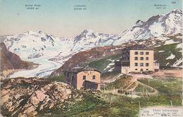 AK Hotel Restaurant Schwarzsee Lac Noir Monte Rosa Lyskamm Breithorn Gletscher A Zermatt Täsch Suisse Schweiz Wallis VS - VS Valais