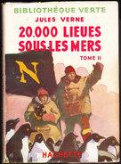 Jules Verne - 20.000 Lieues Sous Les Mers ( Tome II )  - Bibliothèque Verte - ( 1949 ) . - Bücher, Zeitschriften, Comics