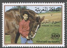 3128 Fauna Horses Animals 1988 Maroc 1v Set MNH ** - Horses