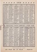 CALENDRIER 1919 - Calendars