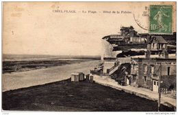 CRIEL-PLAGE.    La Plage.  Hôtel De La Falaise.  2 Scans - Criel Sur Mer