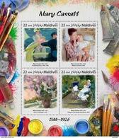 MALDIVES 2017 - Mary Cassatt. Official Issue - Impressionisme