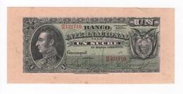 Ecuador, Banco Internacional 18.. . 1 Sucre. - Ecuador