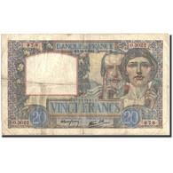 France, 20 Francs, 20 F 1939-1942 ''Science Et Travail'', 1941, 1941-02-20 - 1871-1952 Anciens Francs Circulés Au XXème