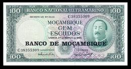 # # # Banknote Mosambik 100 Escusos 1961 UNC # # # - Moçambique