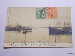 Montevideo-En El Puerto-Précurseur-Carte Photo - Uruguay